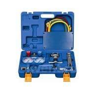 Набор инструментов Value VTB-5B-II (в кейсе: коллектор для R22,R134A,R404A,R407C; шланги; вальцовка с дюймовой и метрической плашкой; 2 трубореза; ример), фото 1