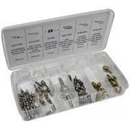 Набор Mastercool 91337 сервисный ключ и комплект ниппелей (5 видов, 50 шт, упак. кейс), фото 1