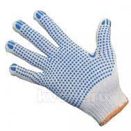 Перчатки ХБ с ПВХ покрытием, белые, фото 1