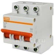 Автоматический выключатель TDM ВА47-63 3/10А, фото 1
