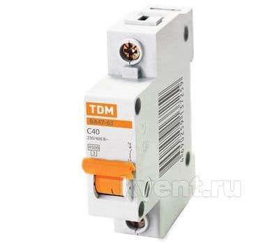 Автоматический выключатель TDM ВА47-63 1/50А, фото 1