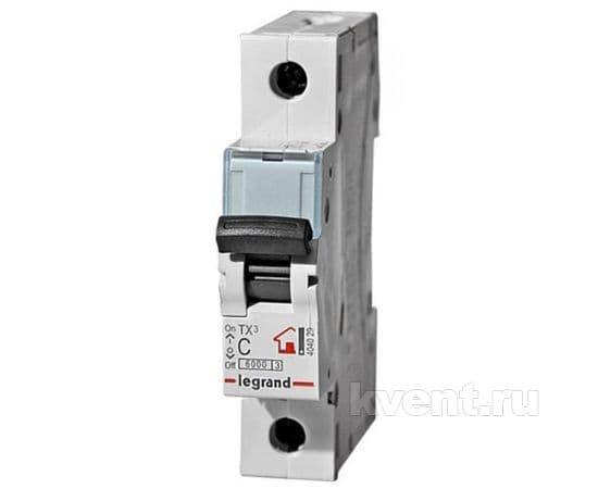 Автоматический выключатель Legrand TX3 - 1 / 6А (404025), фото 1
