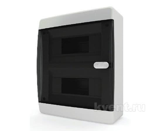 Tekfor CNK 40-18-1 бокс 18М навесной IP40 (прозрачная черная дверца), фото 1
